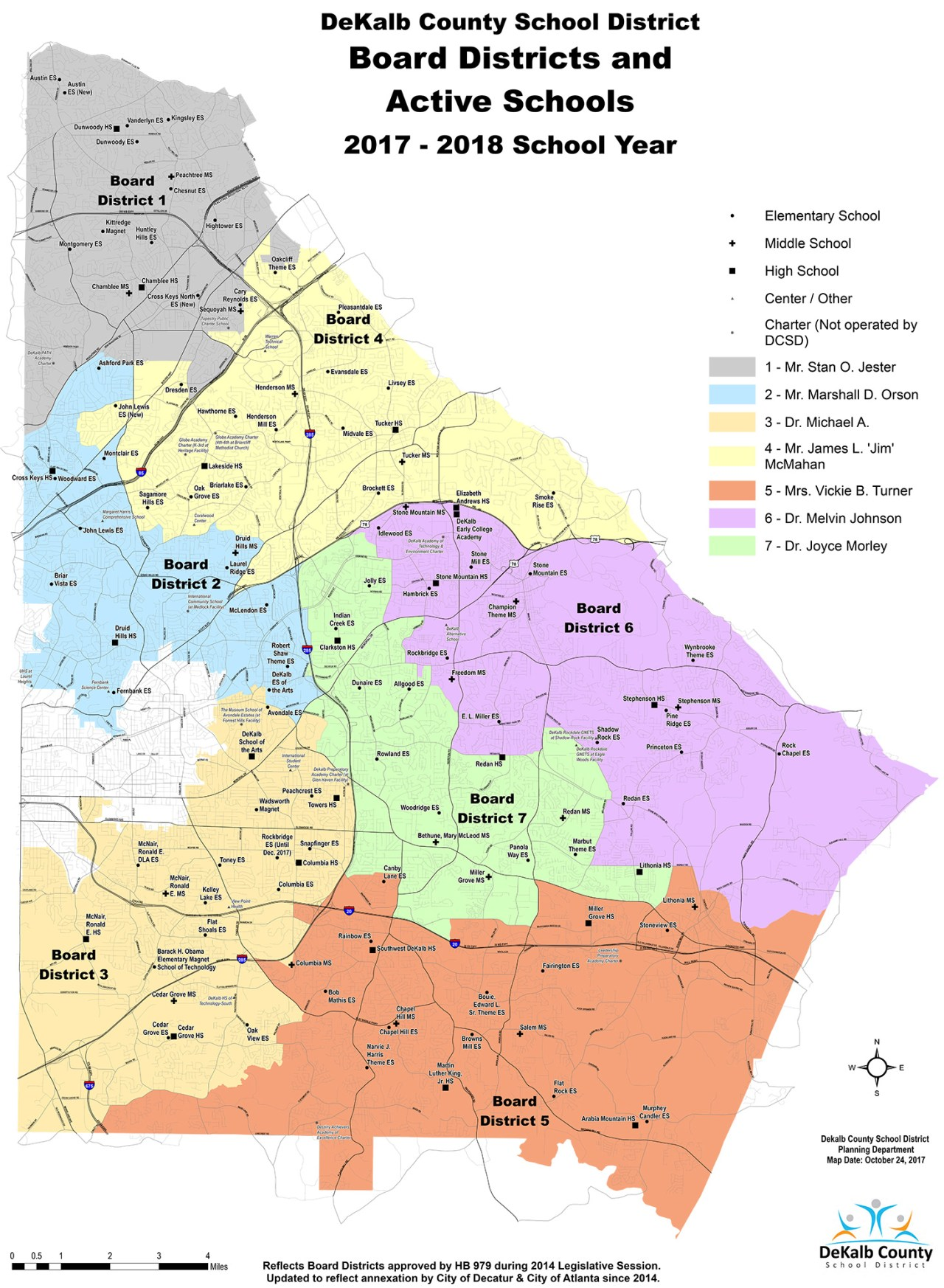 Board of Education District map 2016 - 2017 School Year