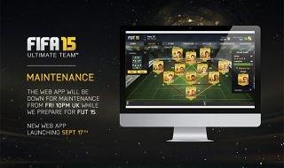 La aplicación web de FIFA 15 Ultimate Team disponible el 17 de septiembre