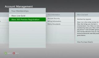 Xbox 360 también tendrá su 'Preview Program'