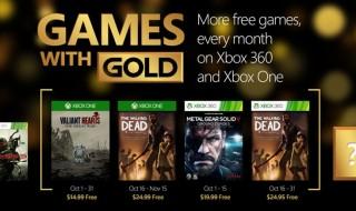 Estos son los Games with Gold de octubre