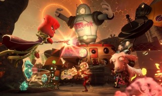 El campo de batalla del patio de Plants vs. Zombies: Garden Warfare 2