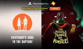 Everybody's Gone to the Rapture y The Deadly Tower of Monsters, entre los juegos de Playstation Plus de noviembre