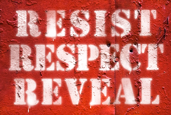 Spray-painted Stencil Type in Photoshop, a deke article