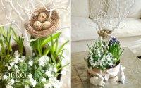 DIY: Hbsche Blumendeko fr Ostern selber machen  Deko ...