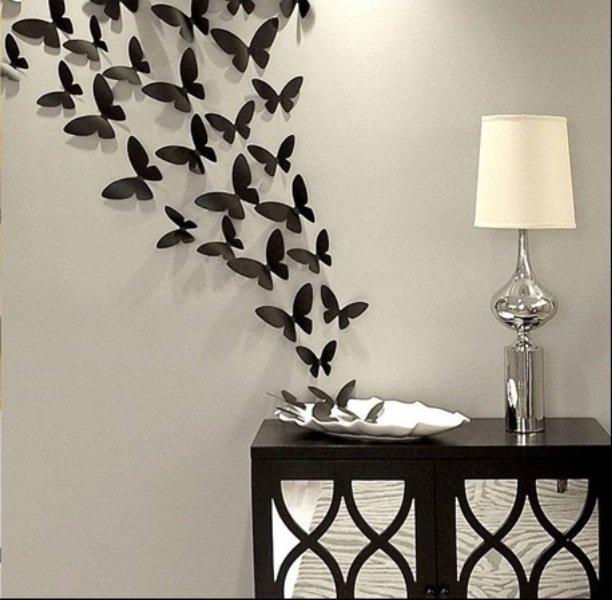 Декор из бабочек на стену своими руками фото