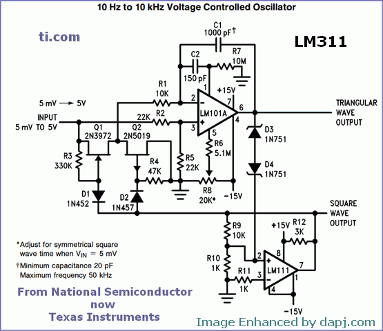 lm311 comparator controlled hbridge schematic