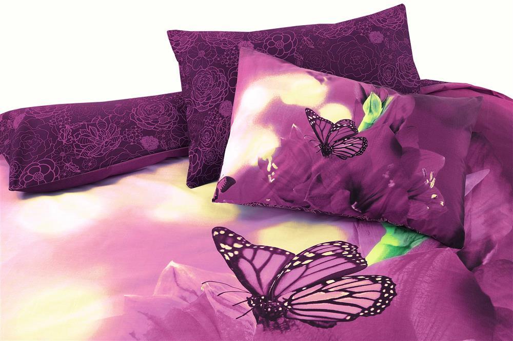 Butterfly Duvet Cover Set Plum With Pillowcase De Lavish