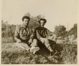 Au Bayle-Vert, avec Jean-Pierre Guillermet, en 1951