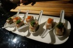 From the sushi station at the Joey's after party