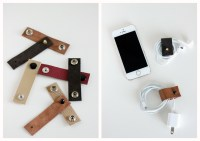 DIY Leather Cord Organizers