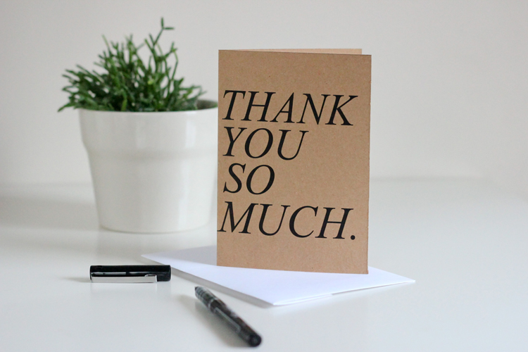 Free Printable Thank You Cards - free thank you notes templates