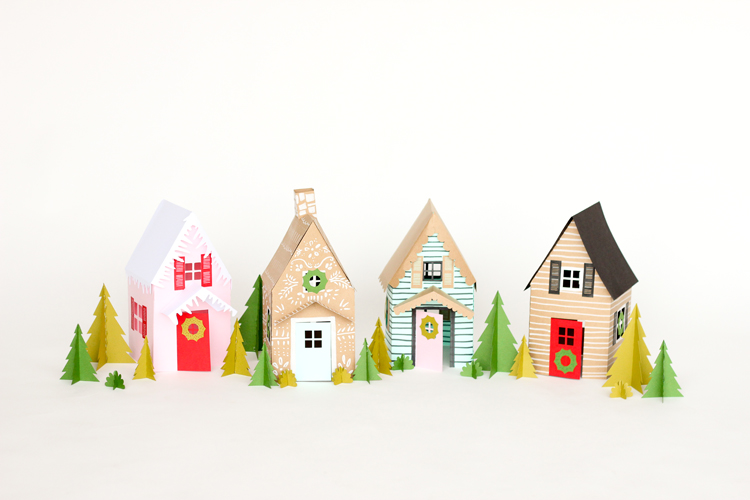 Paper Holiday Houses \u2013 free templates! - free holiday paper templates