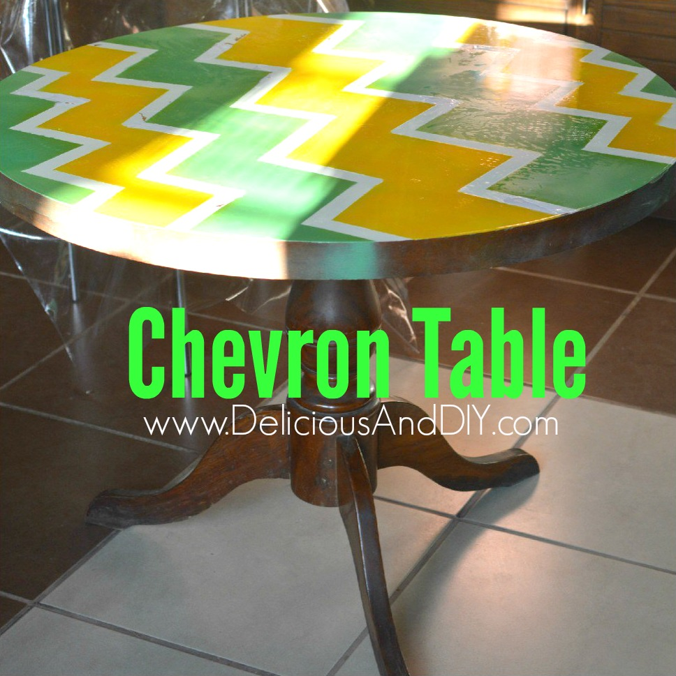 Chevron Table - Delicious And DIY