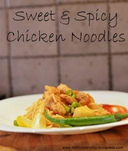 Sweet & Spicy Chicken Noodles