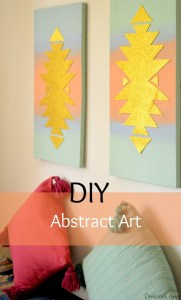 DIY Abstract Wall Art