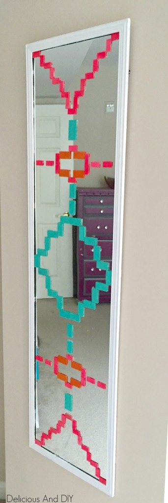 Aztec Mirror Makeover - Delicious And DIY