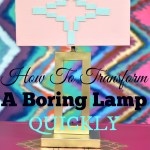 Aztec Inspired Lamp Makeover