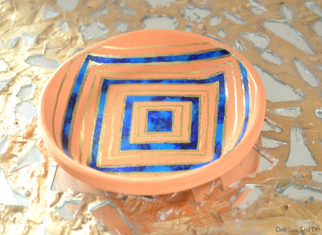 Hand Painted Bowl Makeover