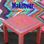 Stencilled Corner Table Makeover – Plus a Giveaway