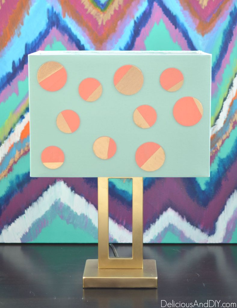 Polka Dot Lamp Makeover - Delicious And DIY