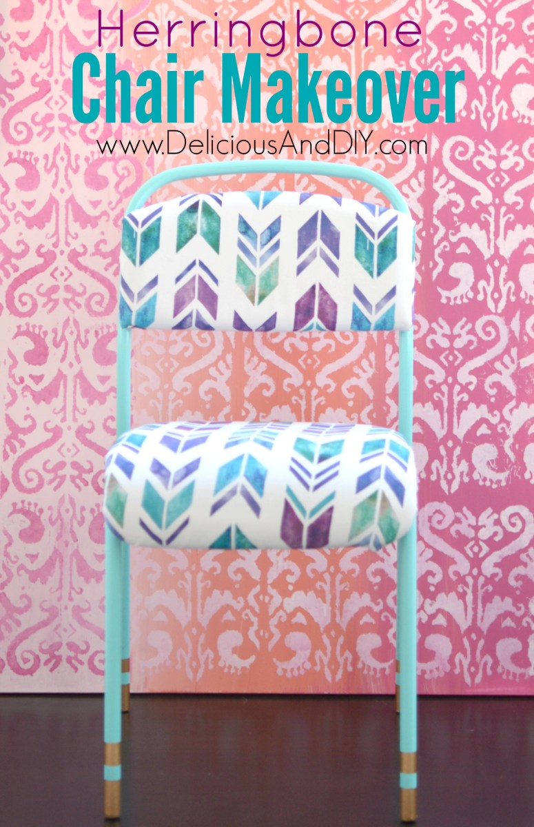 Herringbone Chair Makeover