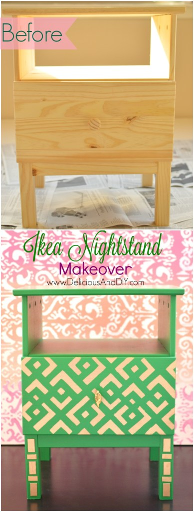 IKEA Nightstand Makeover -Delicious And DIY