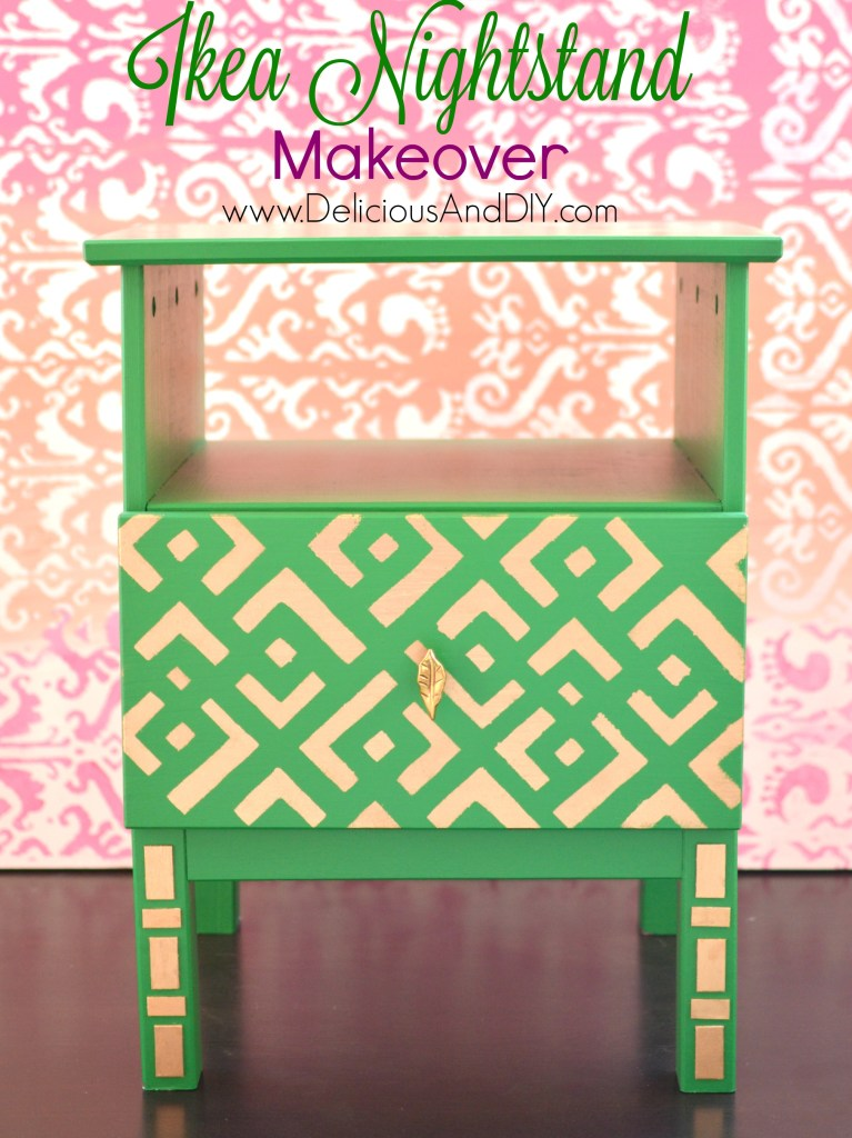 IKEA Nightstand Makeover - Delicious And DIY