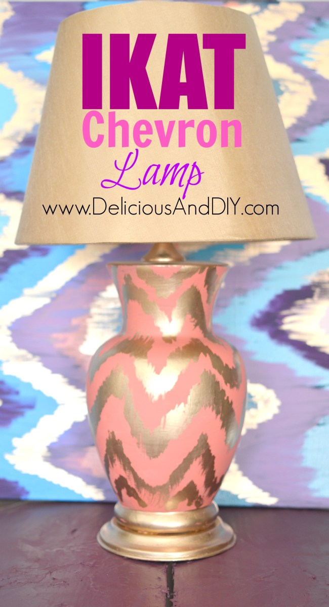 Ikat Chevron Lamp