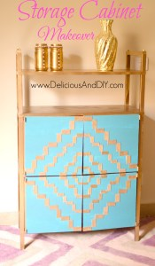 Storage Cabinet Makeover - Delicious And DIY