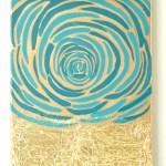 Rose And Gold Foil Art
