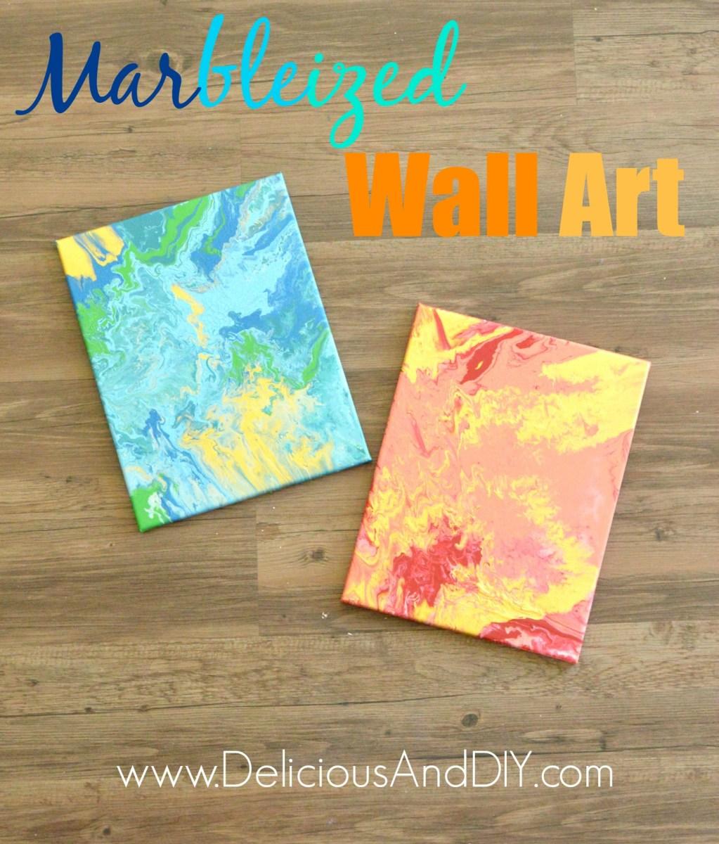 Marbleized Wall Art