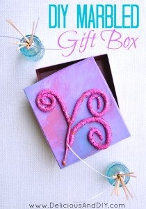 DIY Marbled Gift Box