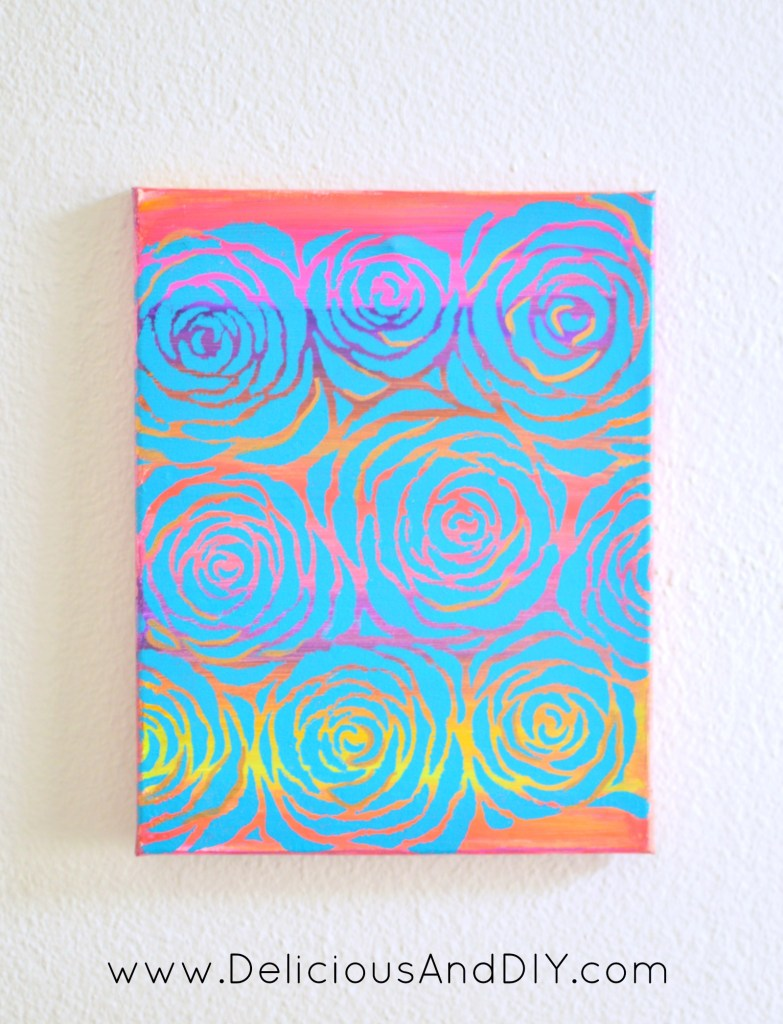 Roses Allover Canvas Art - Delicious And DIY