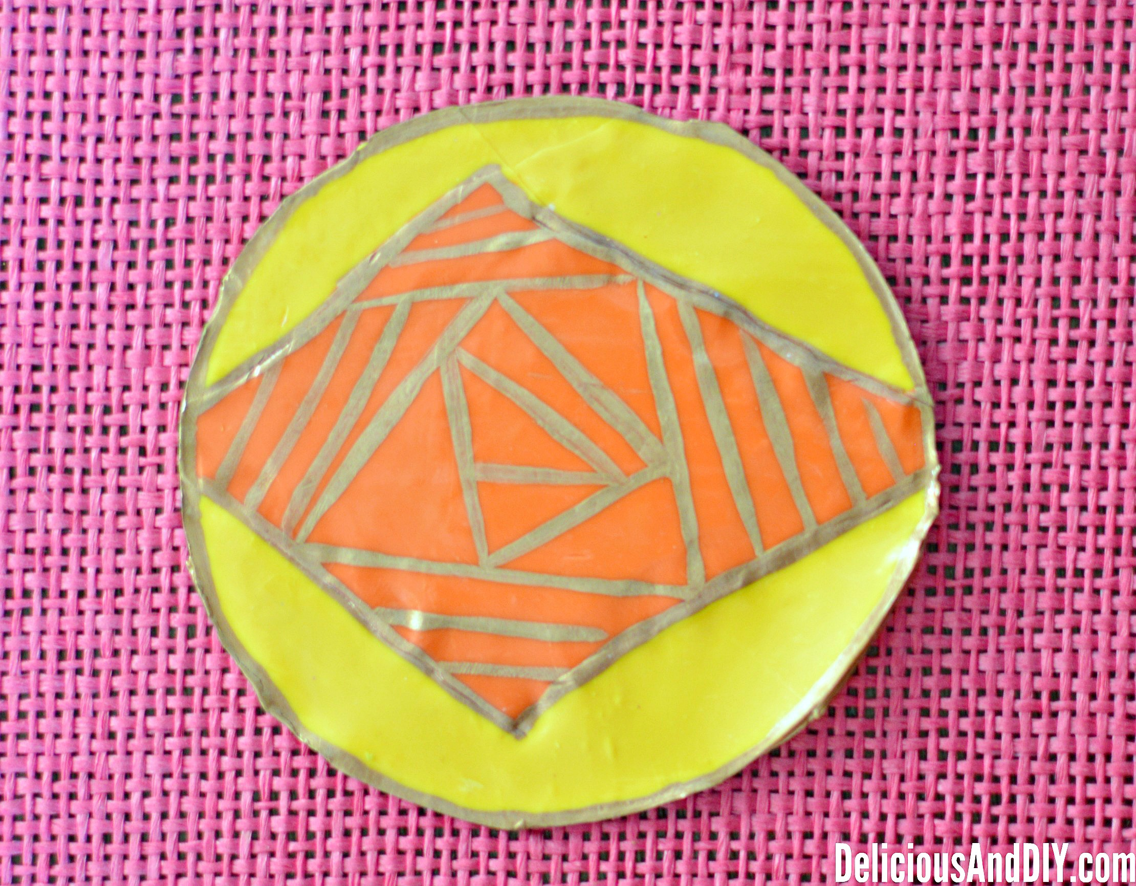 Geometric Coasters|Oven Bake Clay Projects| Hand Made Clay Coasters| DIY Crafts| Oven Clay Crafts| Easy Coaster Ideas|