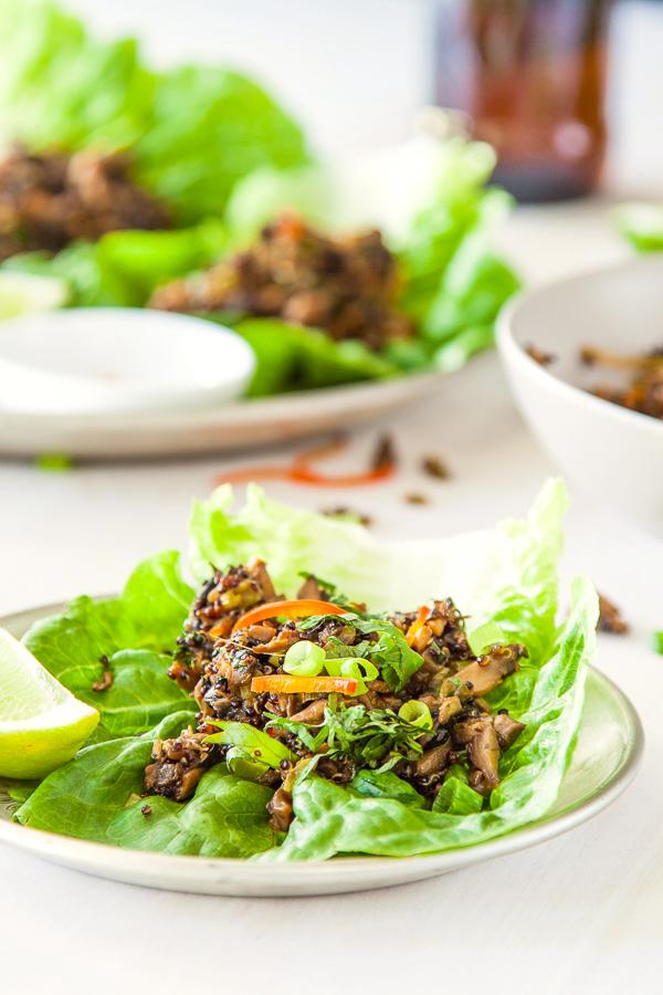 Mushroom and Quinoa vegetarian San Choi Bao deliciouseveryday.com