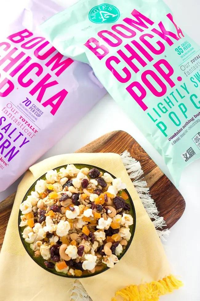 Healthy Popcorn Trail Mix - Delicious Meets Healthy