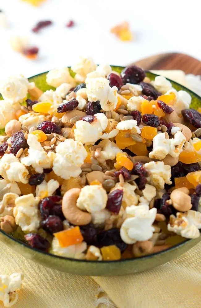 Healthy Popcorn Trail Mix - Delicious Meets Healthy
