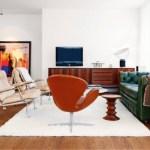 Muebles modernistas en casa