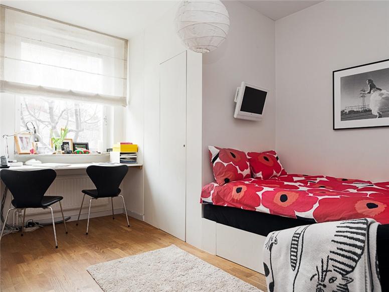 Estilo n rdico en blanco con toques de color blog tienda for Dormitorio juvenil estilo nordico