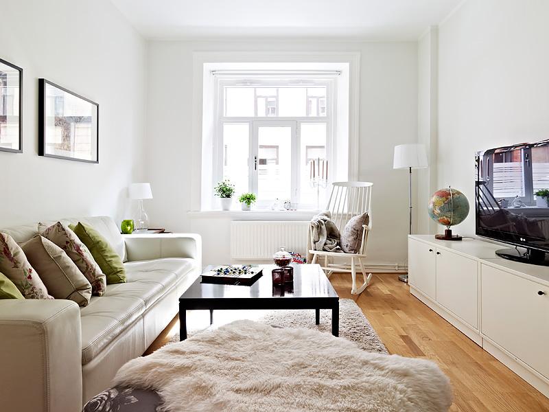 Un piso peque o en colores neutros blog decoraci n - Decoracion de interiores pisos pequenos ...