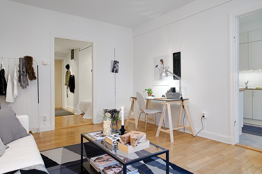 Mini piso de 40 m de estilo escandinavo blog tienda - Decoracion pisos pequenos ...