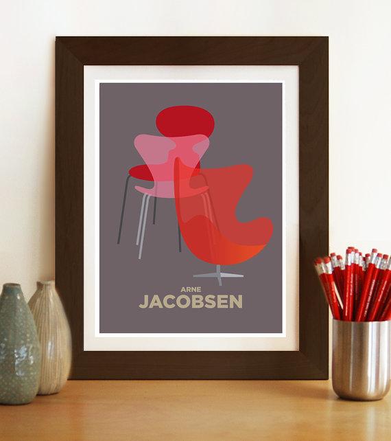 Hoy me gusta visualphilosophy danish scandinavian interiors retro poster prints blog - Poster decoracion ...