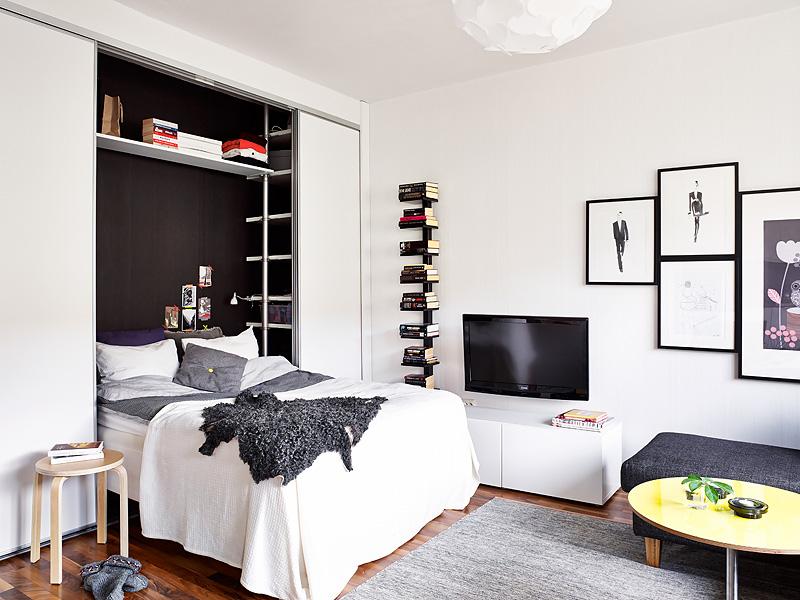 Esconder la cama en un armario en pisos peque os blog - Soluciones para pisos pequenos ...