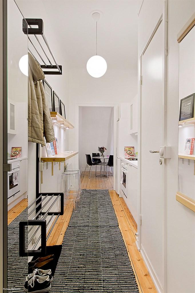 Aprovechar el espacio al m ximo la cocina en el pasillo - Decoracion en pasillos ...