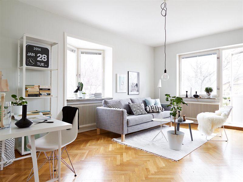 Un interior en armon a gris blanco y madera blog - Decoracion en gris ...