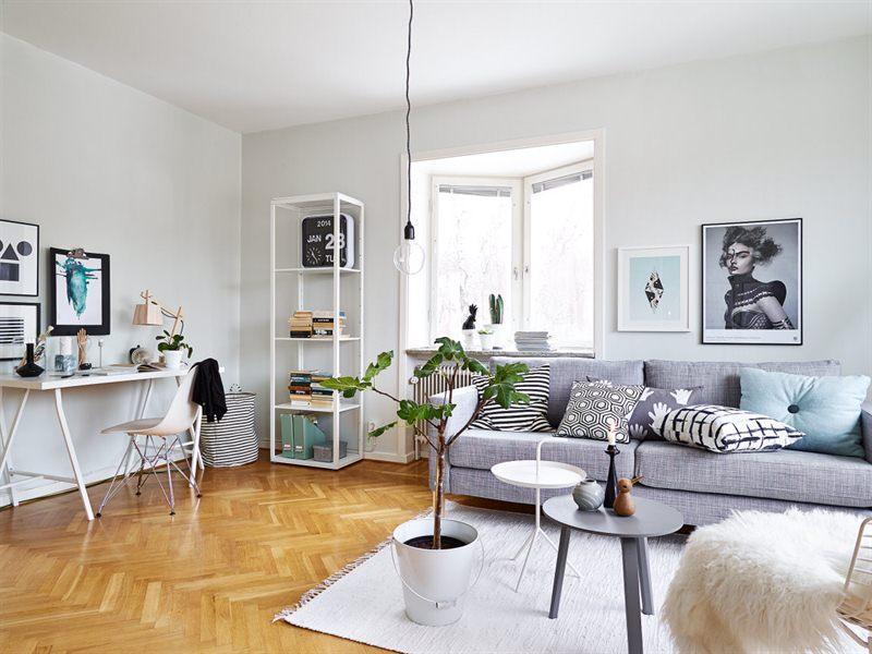 Un interior en armon a gris blanco y madera blog - Decorar en blanco y madera ...