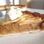 Tarta de mazana con relleno de compota