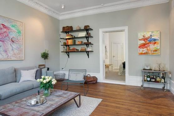 interiores nórdicos Interior mezcla de clásico y nuevo estilo y diseño nórdico escandinavo diseño de interiores decoración salones y dormitorios n�