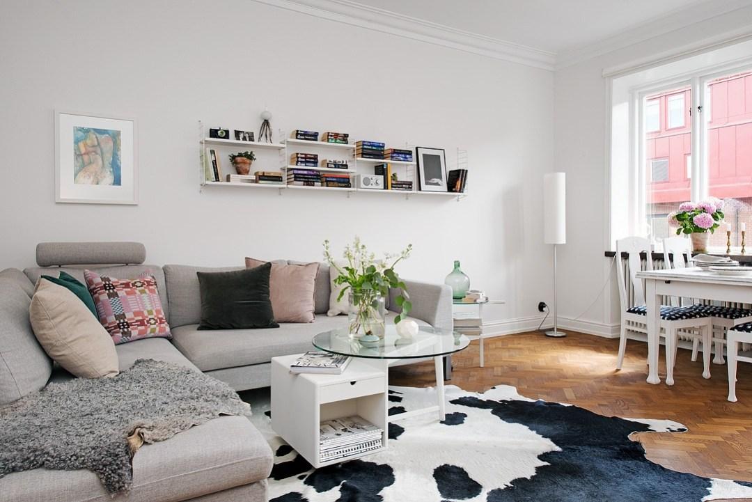 Bonito y recogido piso n rdico de 61m blog decoraci n for Decoracion piso antiguo