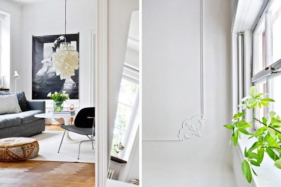 Detalles de obra y buenos acabados decoración estilo nórdico escandinavo decoración de salones decoración de comedores cocinas nórdicas cocinas blancas modernas blog decoración nórdica acabados de lujo decoración